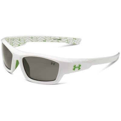 Under Armour Ace Shiny White Kid's Sunglasses