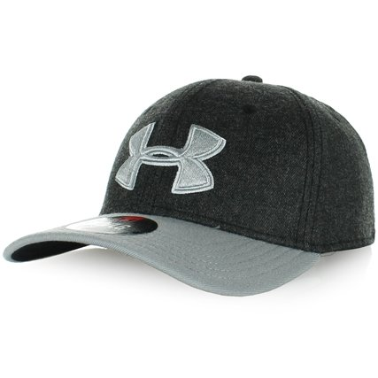 UA Black / Grey Low Crown Stretch Cap