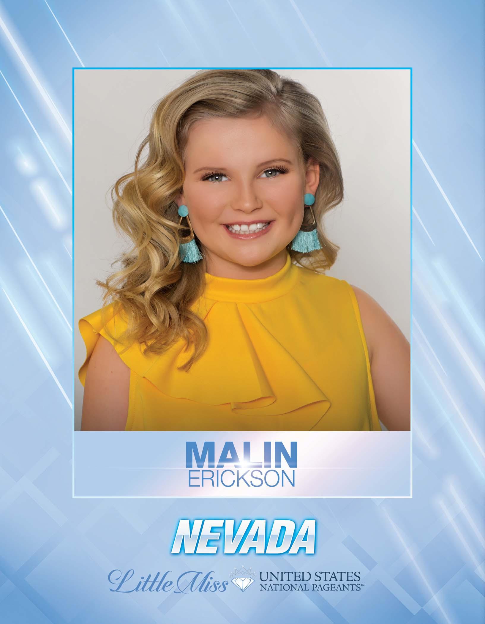 Malin Erickson Little Miss Nevada United States - 2021
