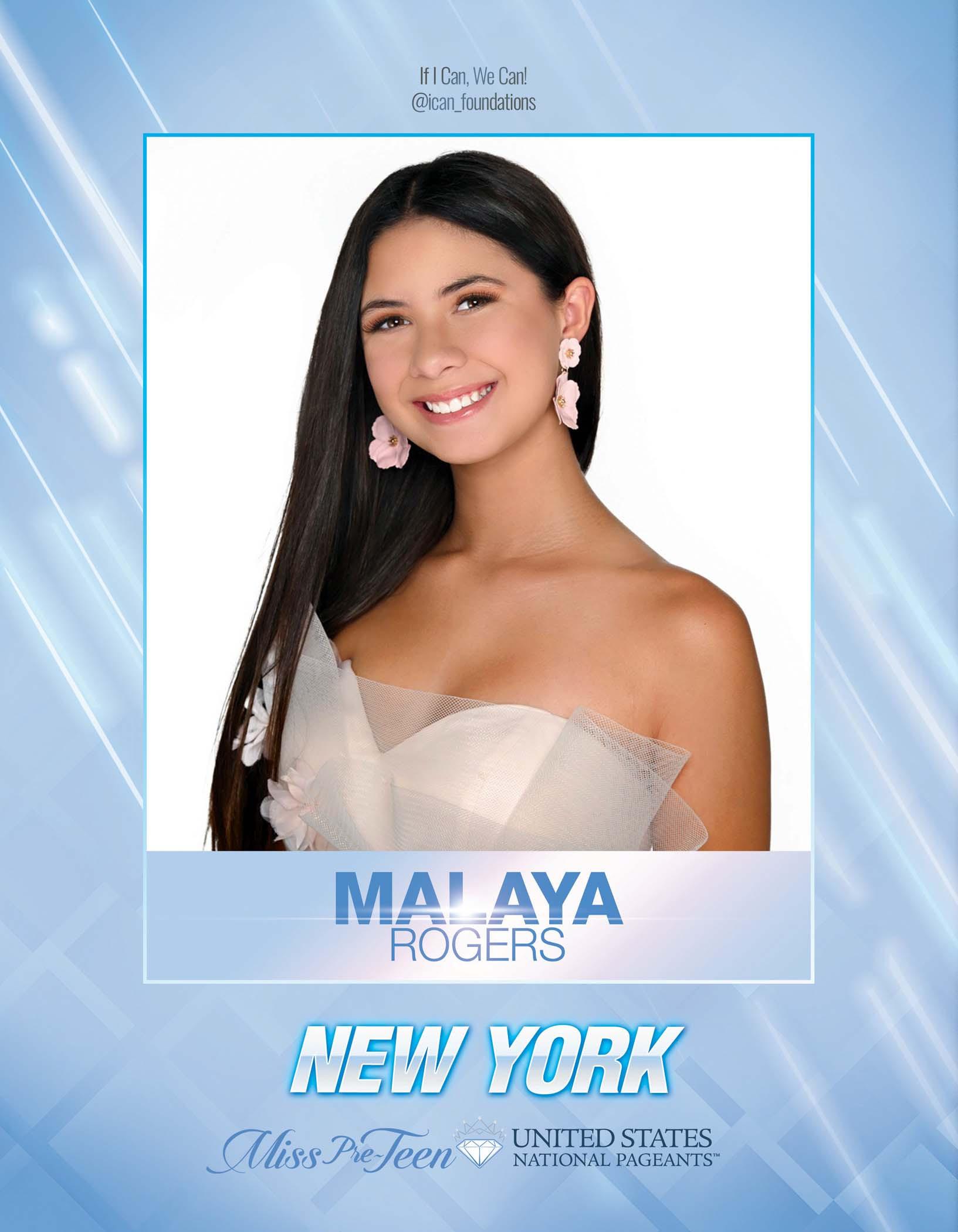 Malaya Rogers Miss Pre-Teen New York United States - 2021