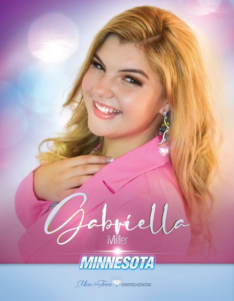 Gabriella Miller Miss Junior Teen Minnesota United States - 2020