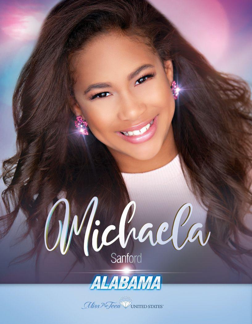 Michaela Sanford Miss Pre-Teen Alabama United States - 2020