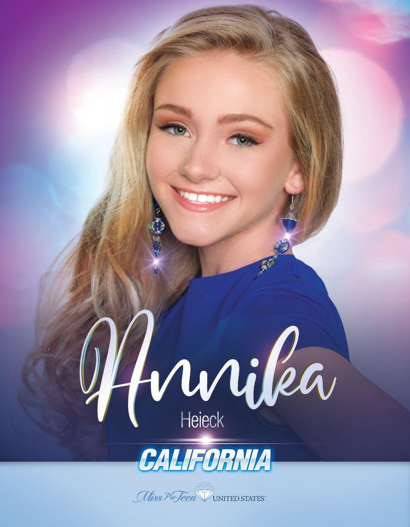 Annika Heieck Miss Pre-Teen California United States - 2020