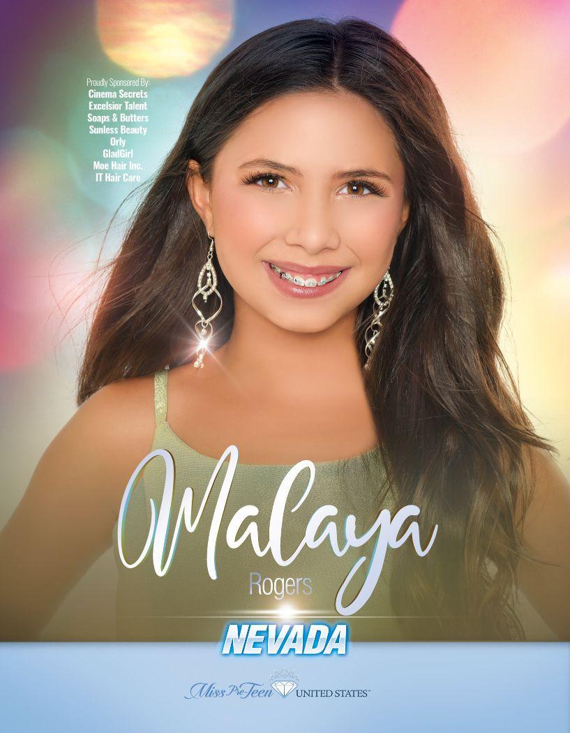 Malaya Rogers Miss Pre-Teen Nevada United States - 2020