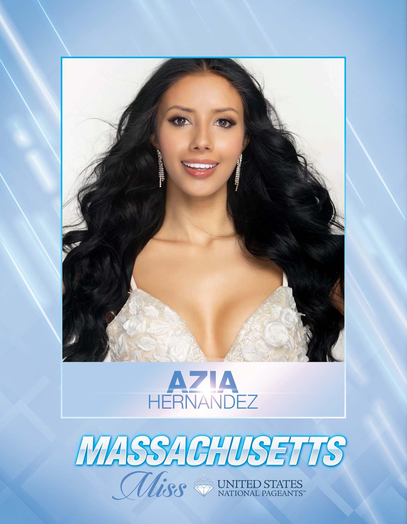 Azia Hernandez Miss Massachusetts United States - 2021