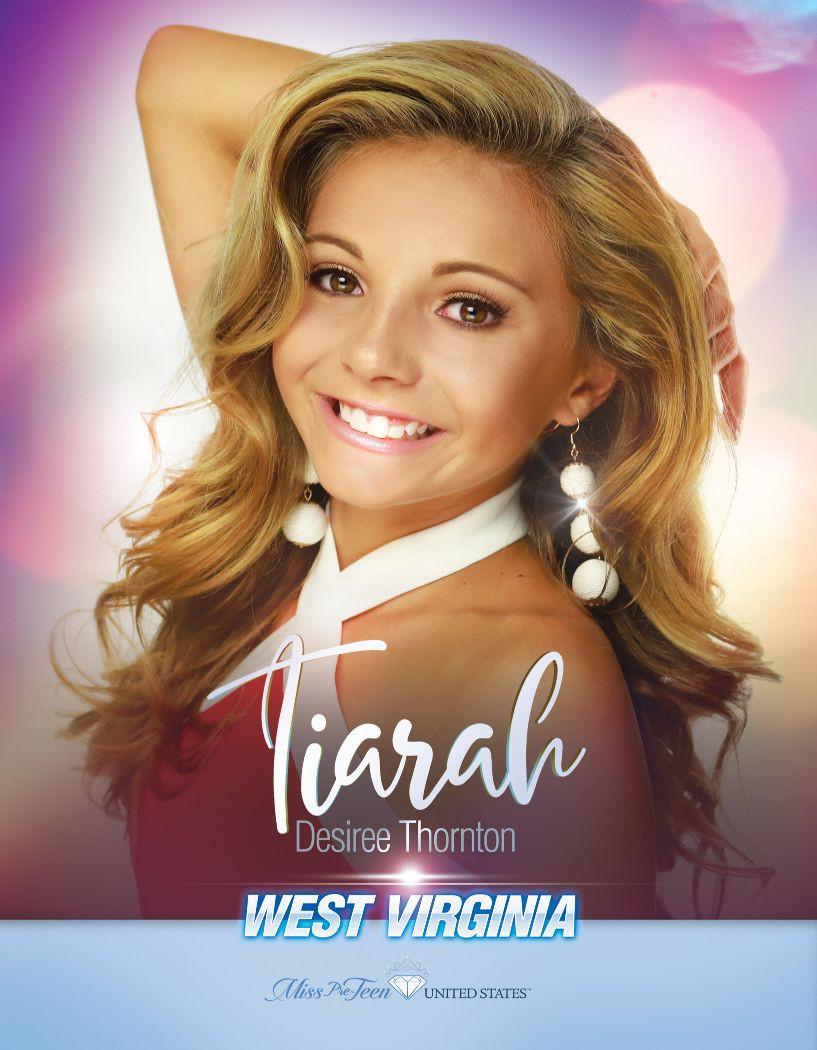 Tiarah Thornton Miss Pre-Teen United States - 2020
