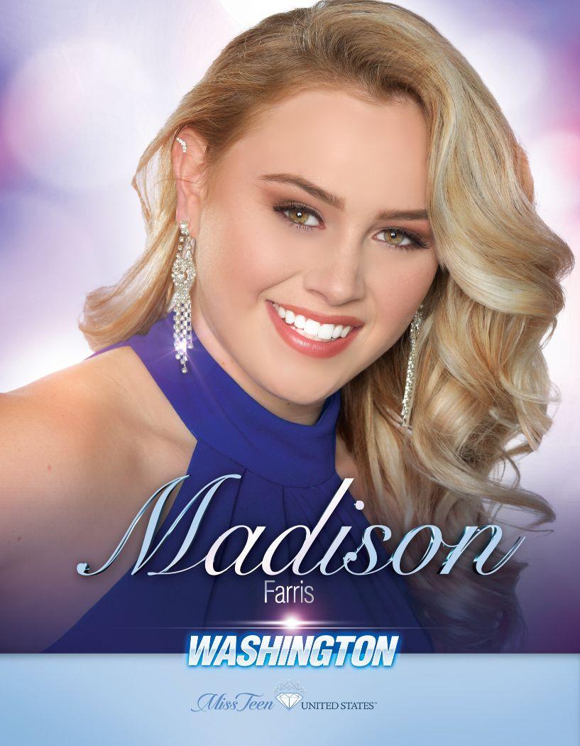 Madison Farris Miss Teen Washington United States - 2020