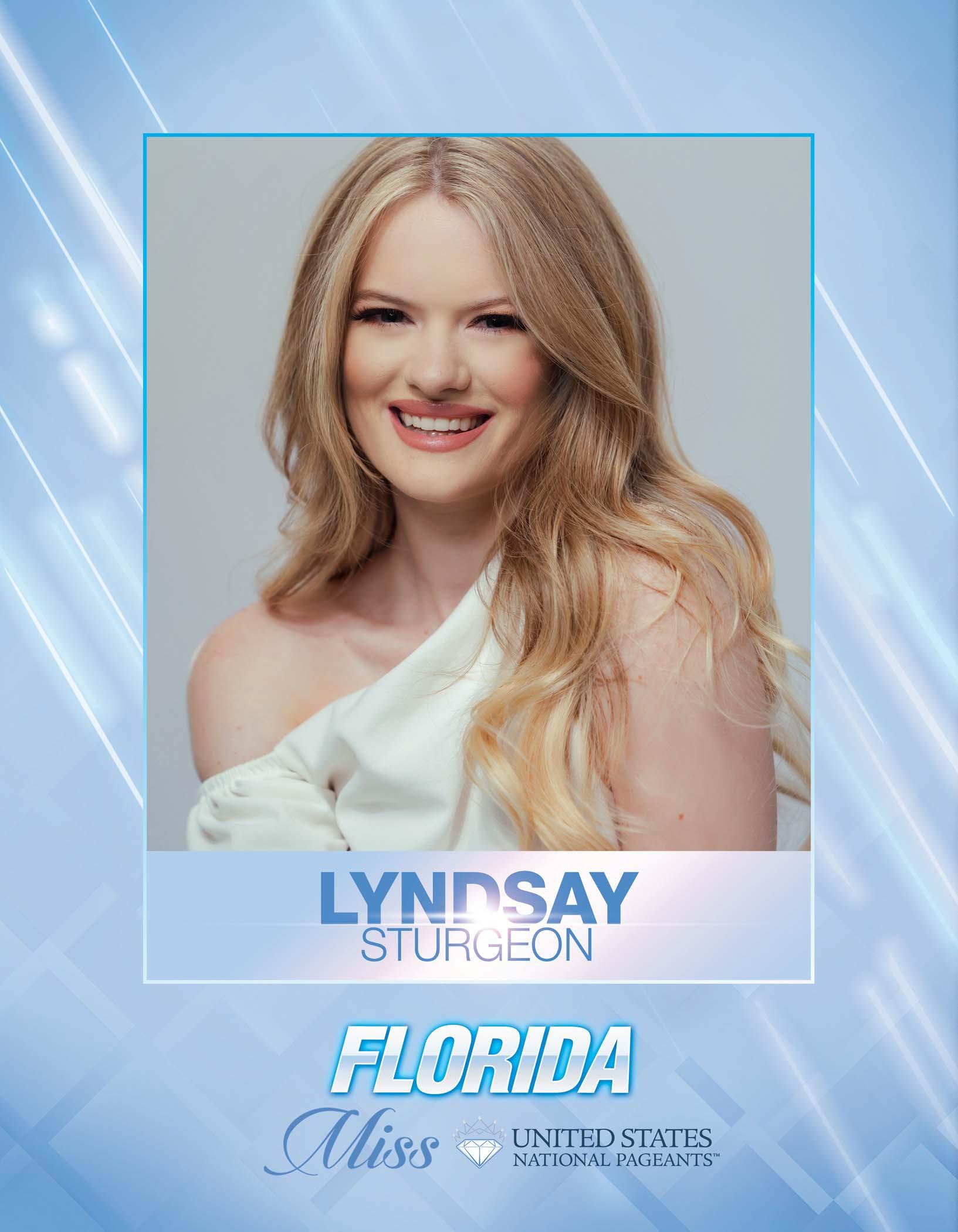 Lyndsay Sturgeon Miss Florida United States - 2021