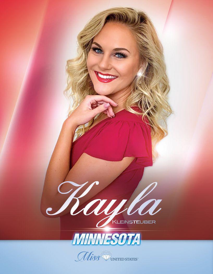 Kayla Kleinsteuber Miss Minnesota United States - 2020