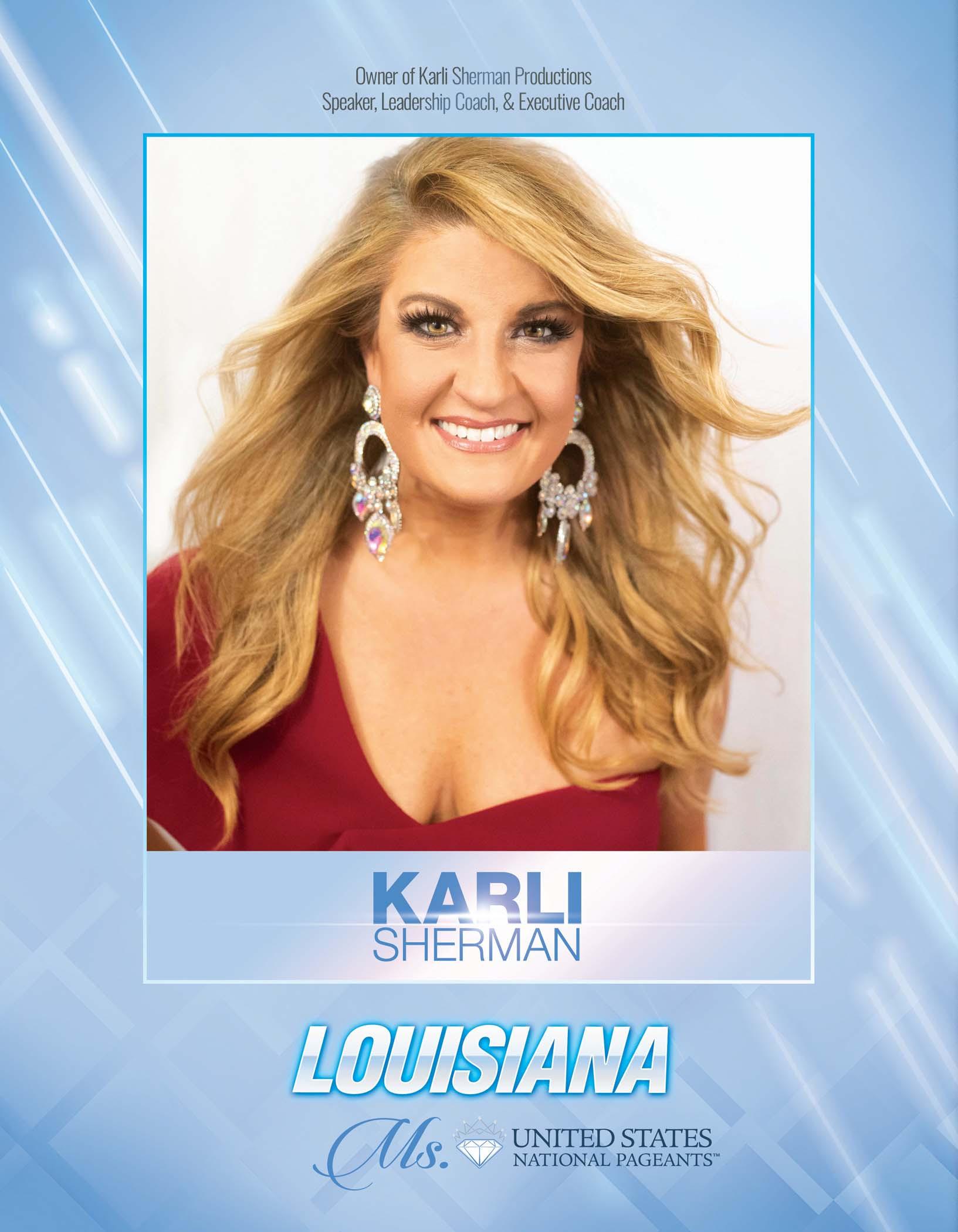 Karli Sherman Ms. Louisiana United States - 2021