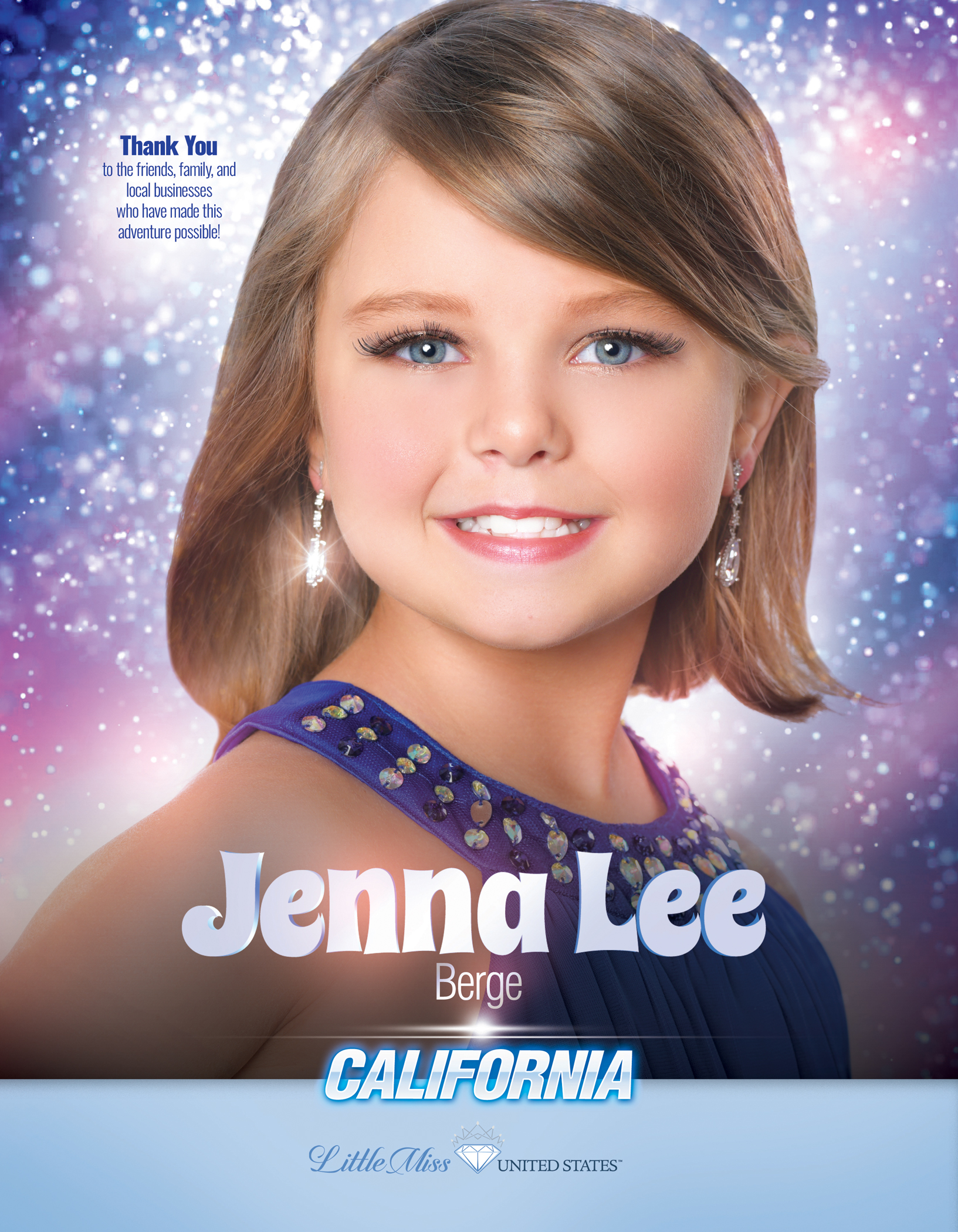Jenna Lee Berge Little Miss California United States - 2019