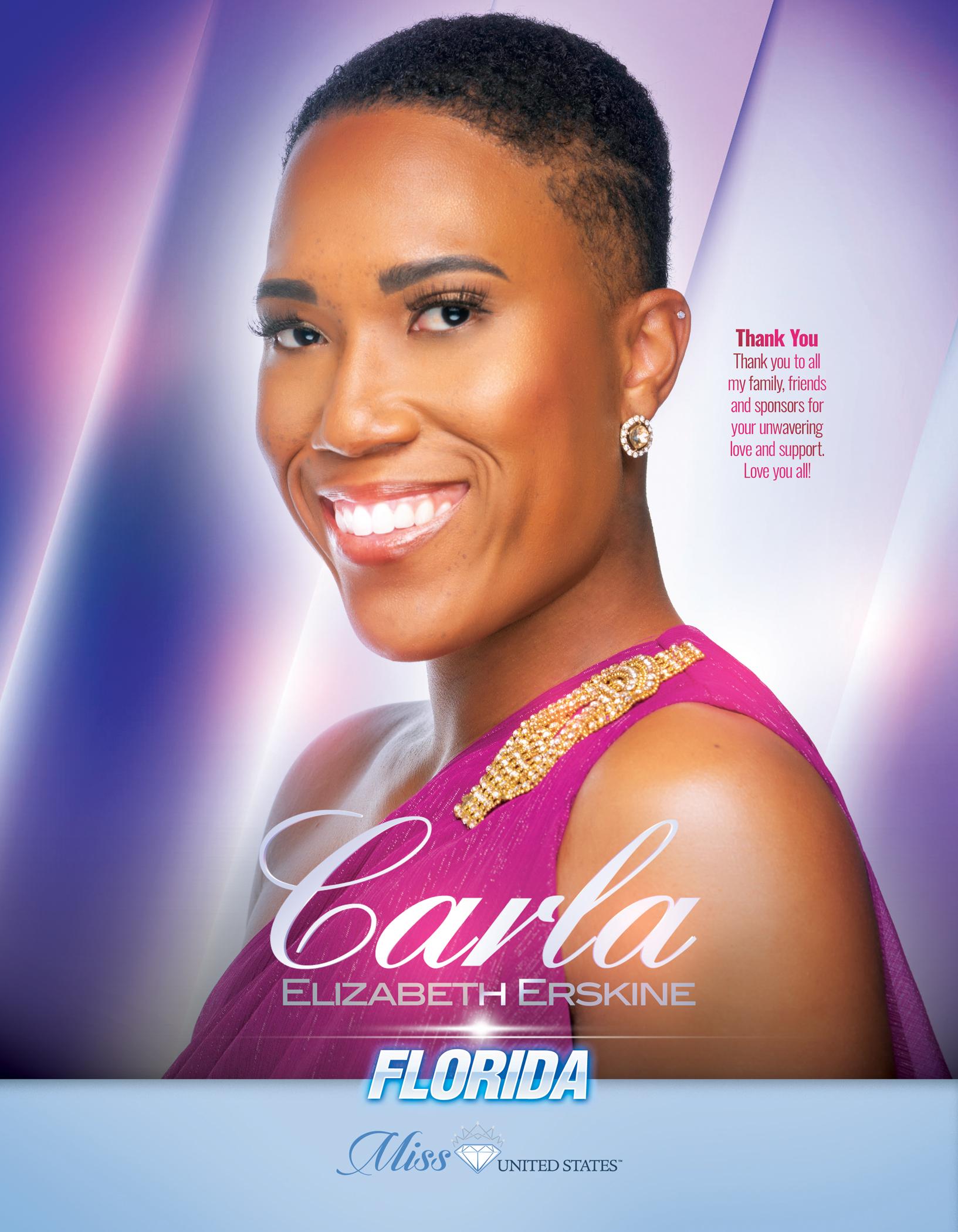 Carla Erskine Miss Florida United States - 2019