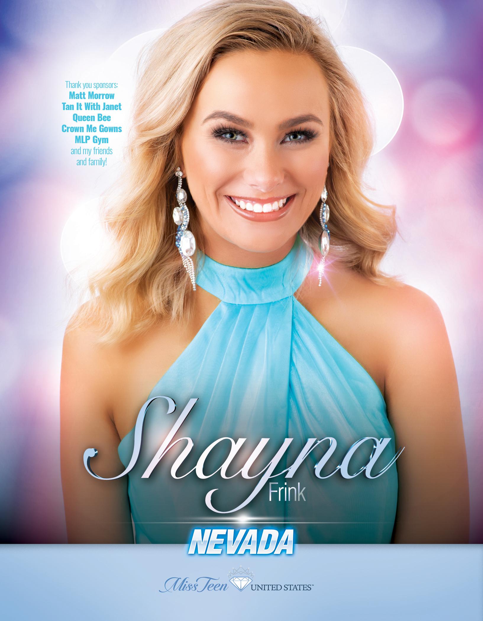 Shayna Frink Miss Teen Nevada United States - 2019