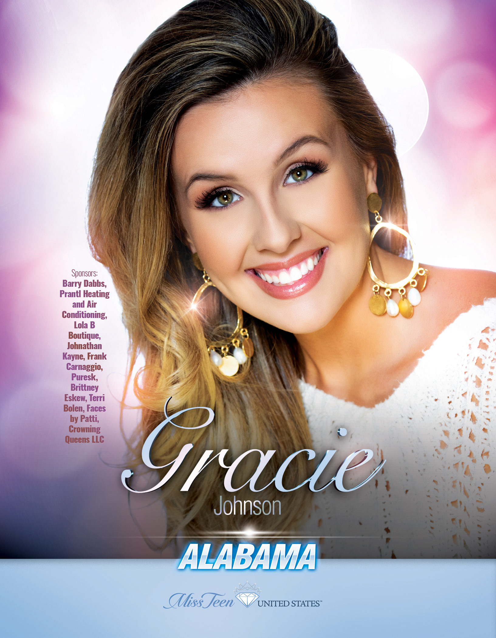 Gracie Johnson Miss Teen Alabama United States - 2019