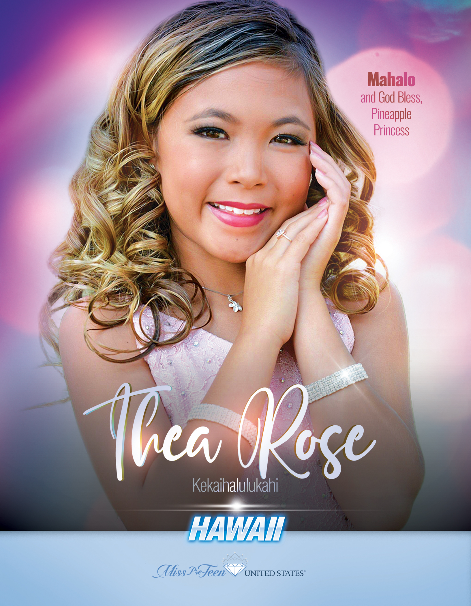 Thea Rose Lazaro Miss Pre-Teen Hawaii United States - 2019