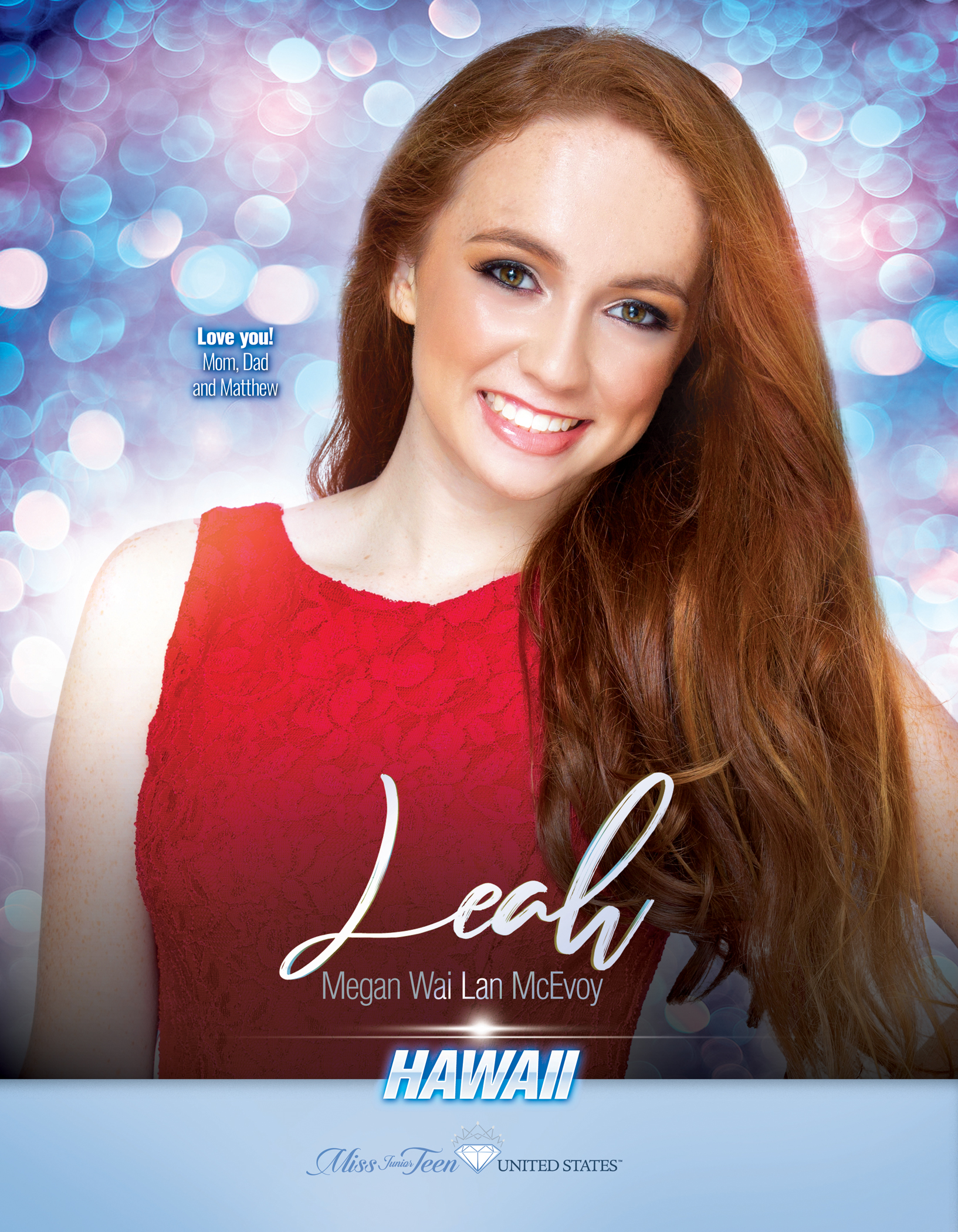 Leah McEvoy Miss Junior Teen Hawaii United States - 2019