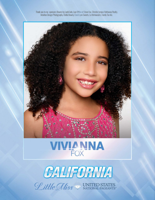 Vivianna Fox Little Miss California United States - 2021