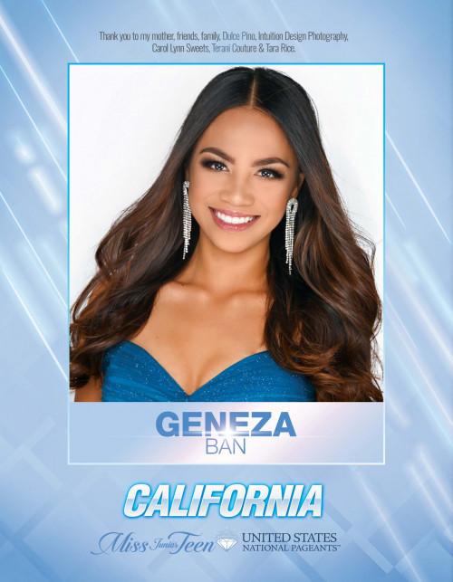 Geneza Ban Miss Junior Teen California United States - 2021