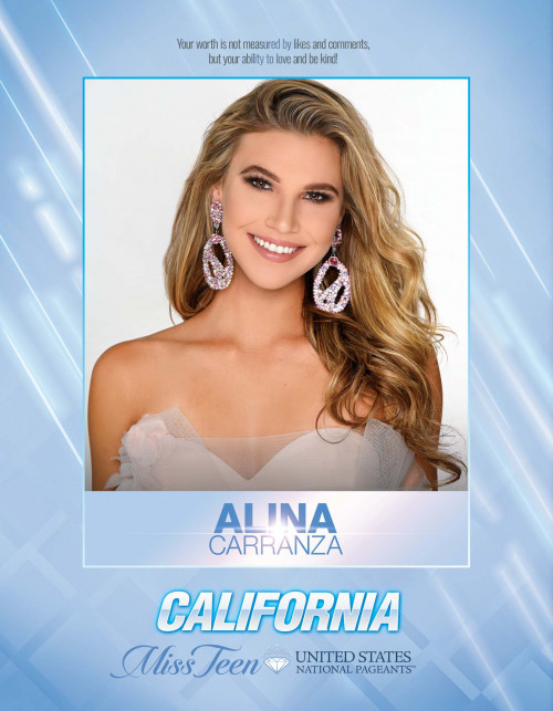 Alina Carranza Miss Teen California United States - 2021