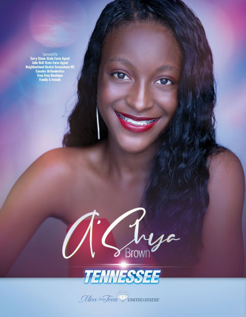 A'Shya Brown Miss Junior Teen Tennessee United States - 2020