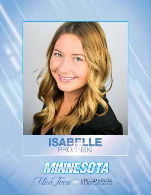 Isabelle Prozinski Miss Teen Minnesota United States - 2021