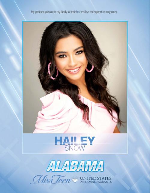 Hailey Snow Miss Teen Alabama United States - 2021