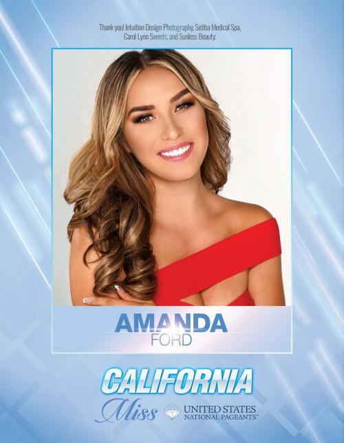 Amanda Ford Miss California United States - 2021