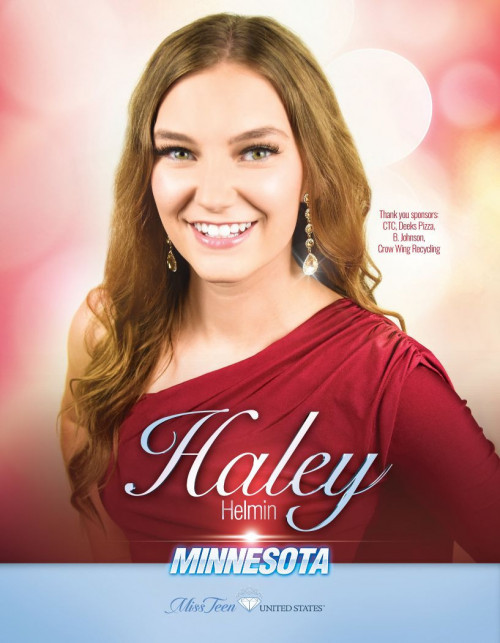 Haley Helmin Miss Teen Minnesota United States - 2020