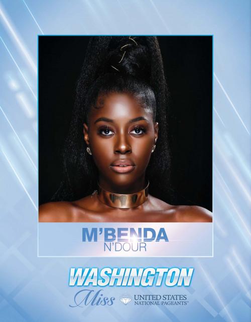 M'benda N'dour Miss Washington United States - 2021