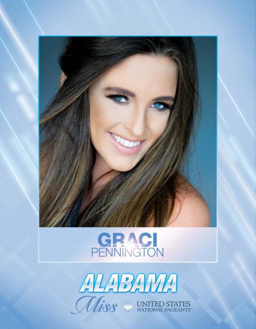 Graci Pennington Miss Alabama United States - 2021