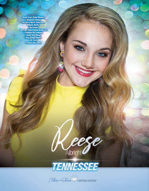 Reese Albright Miss Junior Teen Tennessee United States - 2019