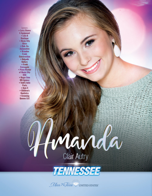 Amanda Autry Miss Pre-Teen Tennessee United States - 2019