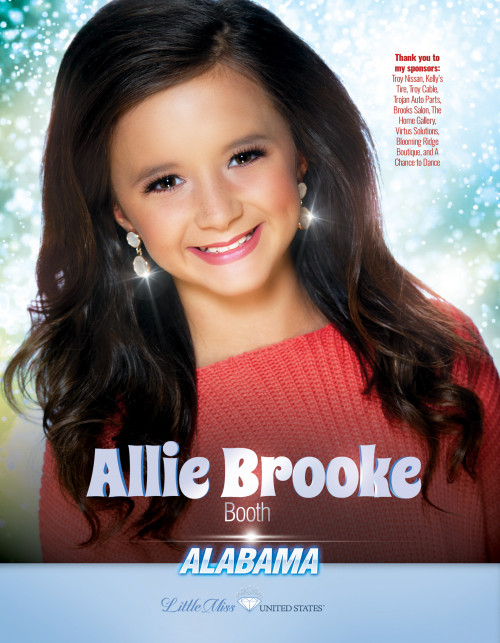 Allie Booth Little Miss Alabama United States - 2019