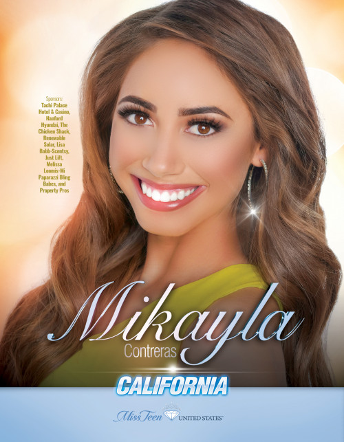 Mikayla Contreras Miss Teen California United States - 2019
