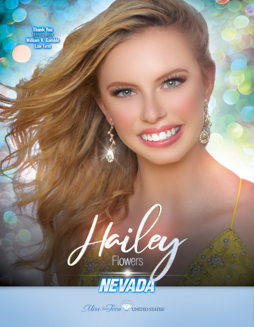Hailey Flowers Miss Junior Teen Nevada United States - 2019