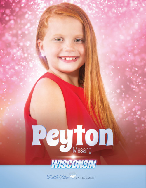 Peyton Rosemary Mesang Little Miss Wisconsin United States - 2020