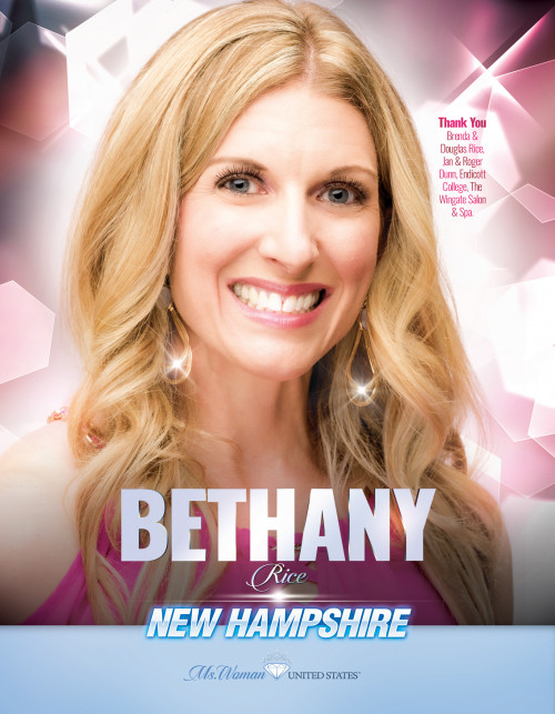 Bethany Rice Ms. Woman New Hampshire United States - 2019