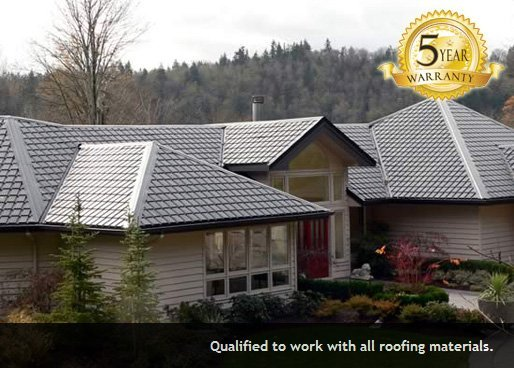 5 Year Warranty on Roof