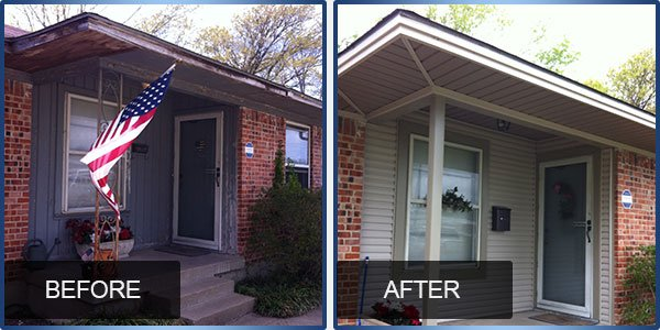 Before & After Siding Job done in Dallas TX