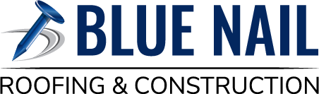 Blue Nail Roofing & Construction Logo
