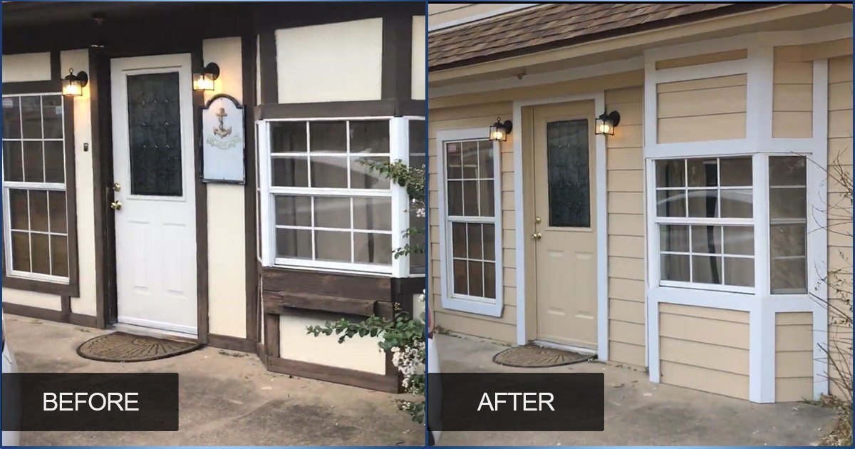 Stunning Before and After with New Vinyl Siding and Paint