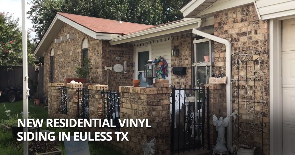 New Residential Vinyl Siding In Euless Tx Blue Nail Roofing