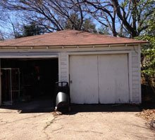 Garage Siding Before & After