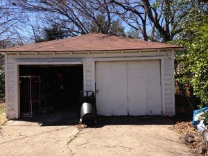 Garage Siding Before Replacement