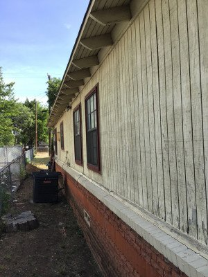 Wood Siding in Need of Painting