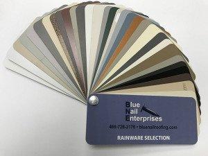 Gutter Color Selections from Blue Nail Enterprises