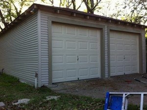 Garage Siding After Replacement