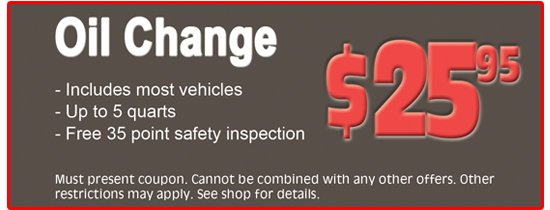 rochester ny oil change coupon