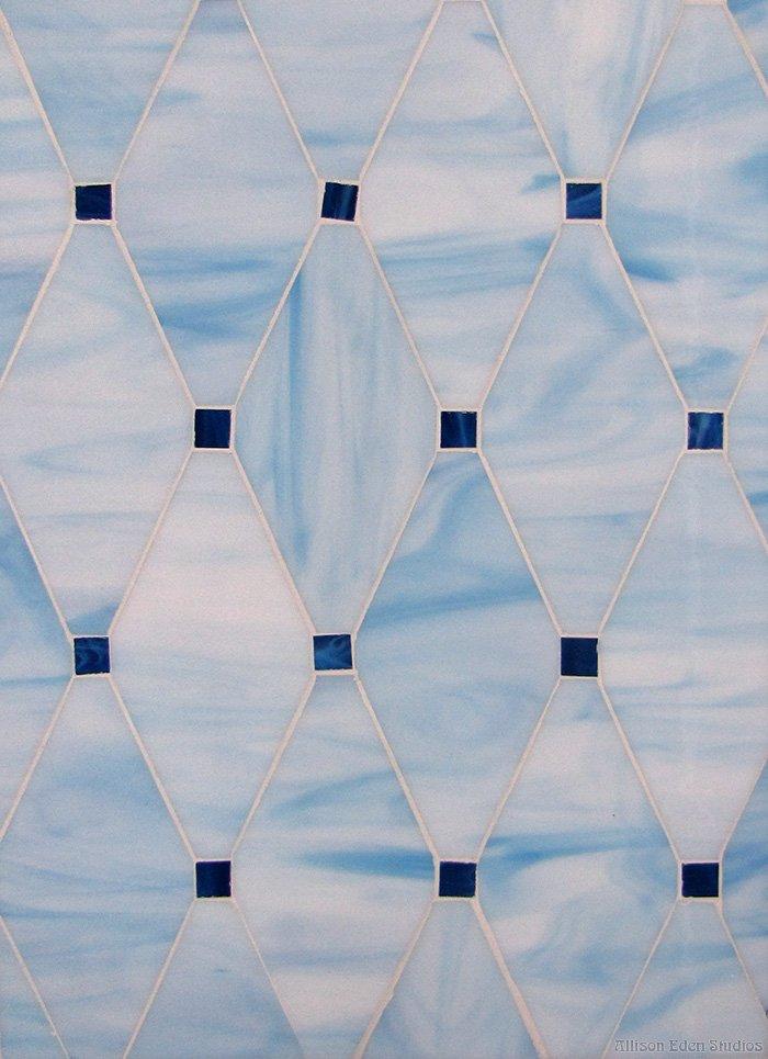 Diamond & Dots in blues