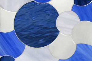 Overlapping Circles- Blues & Whites